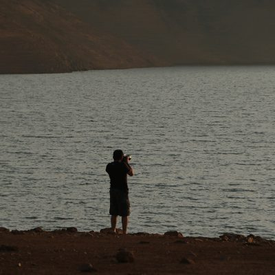 Guest photographing sunset